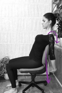 Extensión yoga hombros