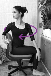 Yoga para cervicales oficinal